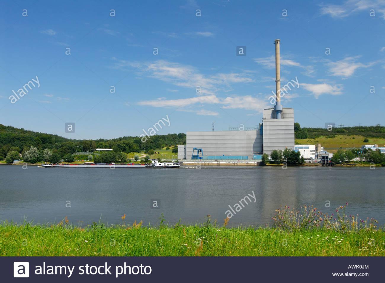 AKW AKWs Kernkraftwerk Kernkraftwerke Atomkraftwerk Atomkraftwerke Atomenergie KKW KKWs Krümmel Schleswig Holstein - Stock Image