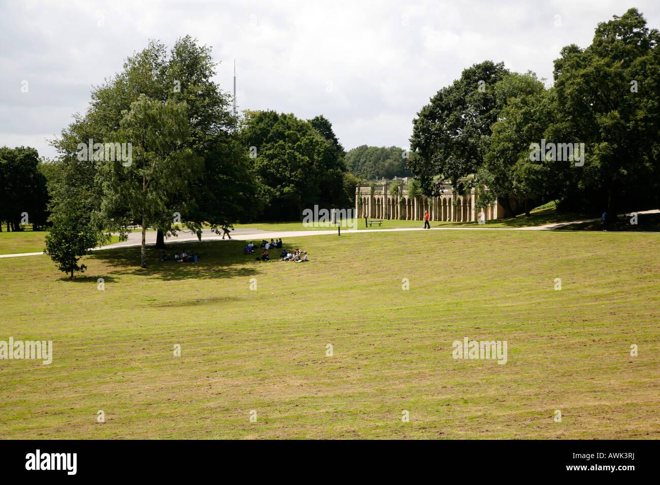 Crystal Palace Park in Sydenham, London - Stock Image