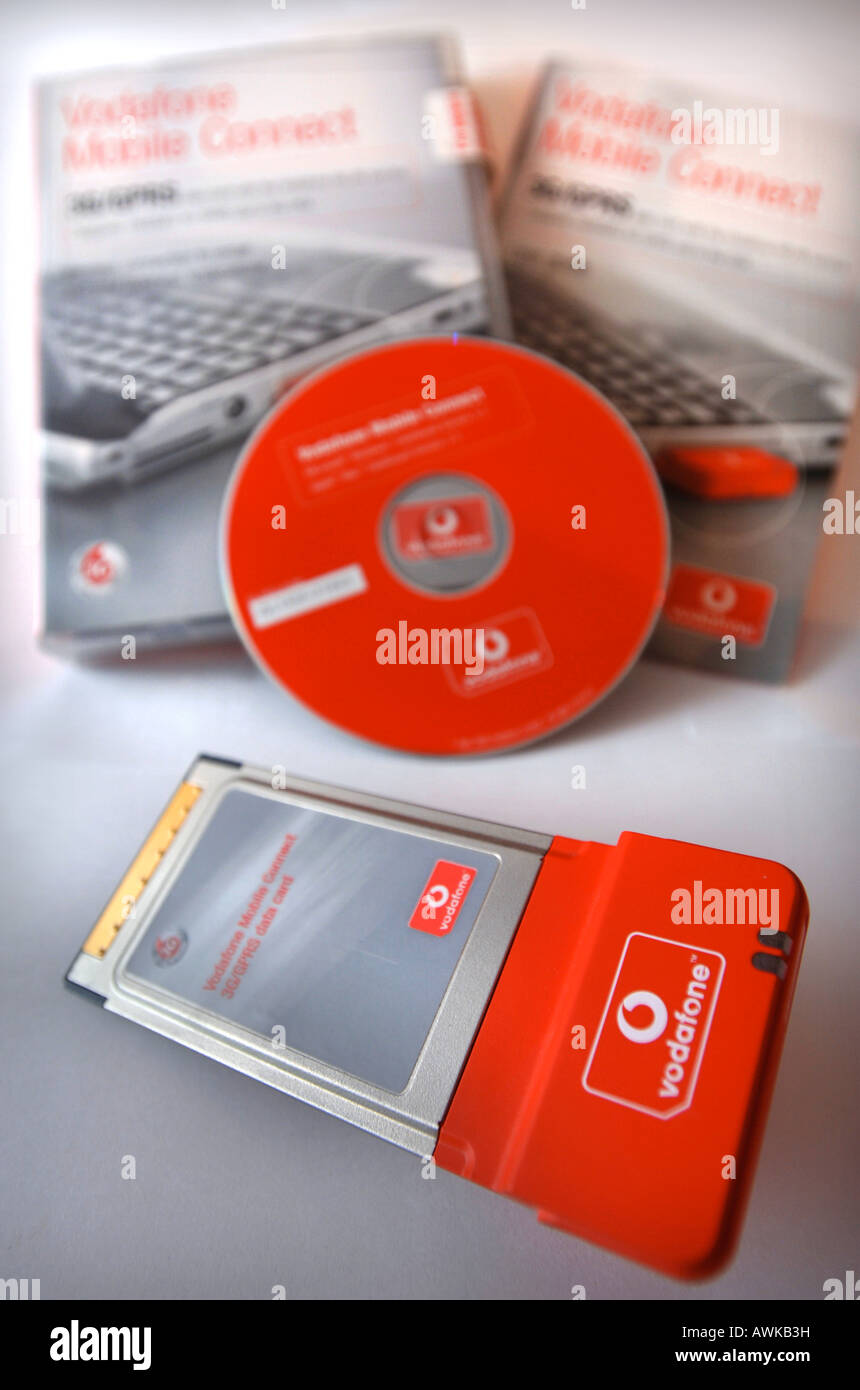 THE VODAFONE 3G MOBILE CONNECT DATA CARD WITH CD ROM