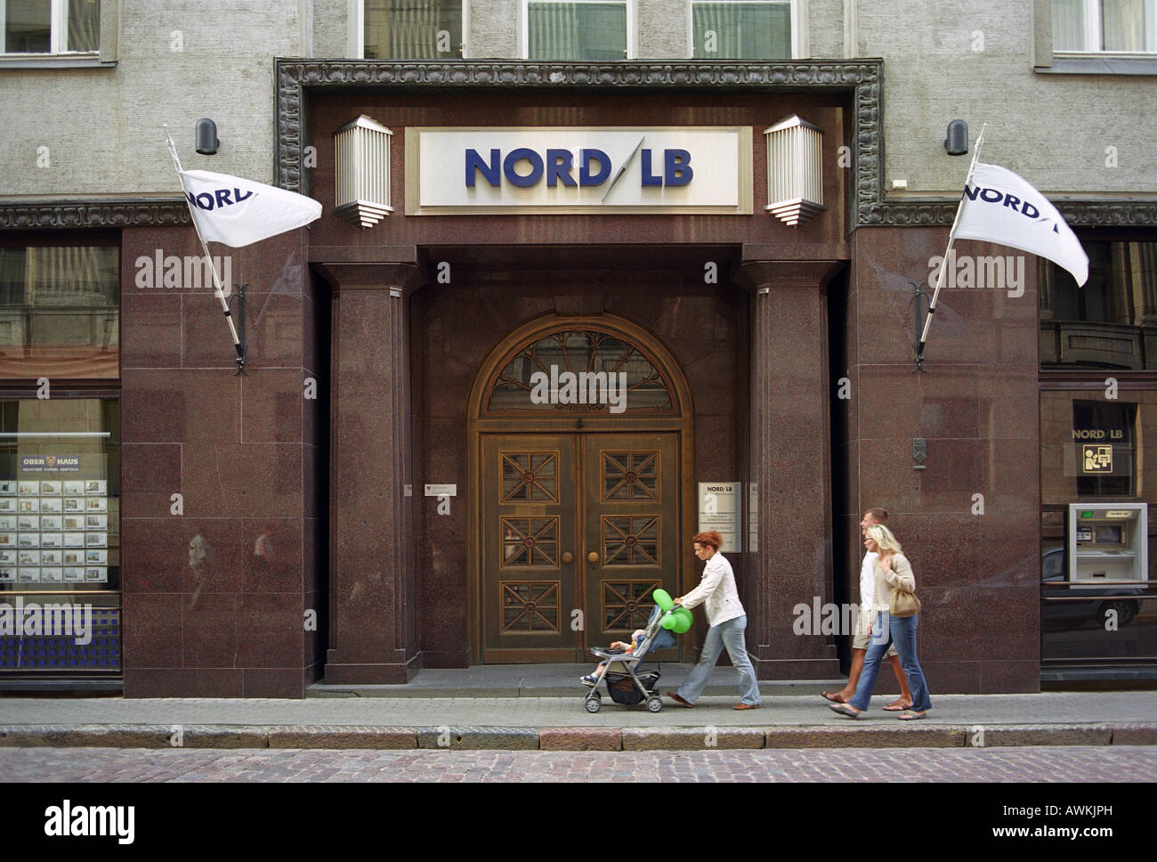 Branch of the NORD/LB in Riga, Latvia Stock Photo