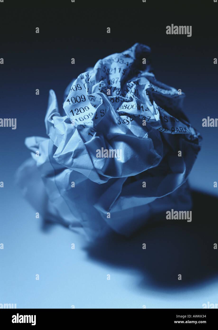 Crumpled paper - Stock Image