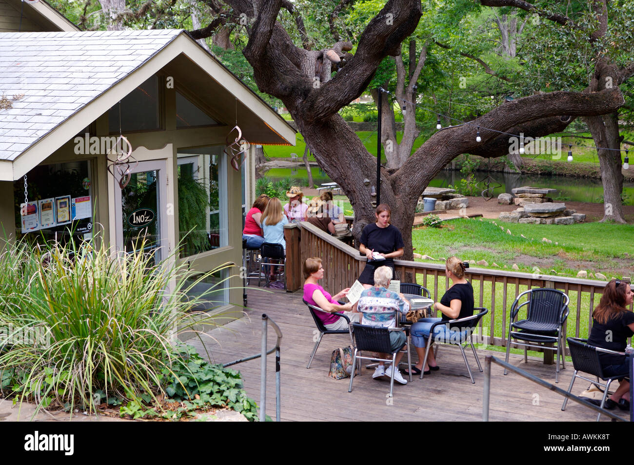 Ino Z Restaurant In Wimberley Texas Along The Banks Of