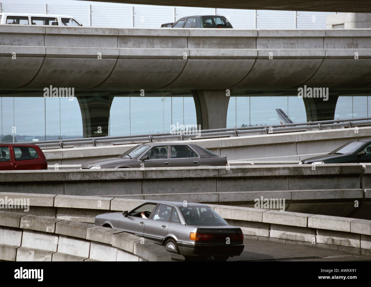 Freeway and overpasses - Stock Image