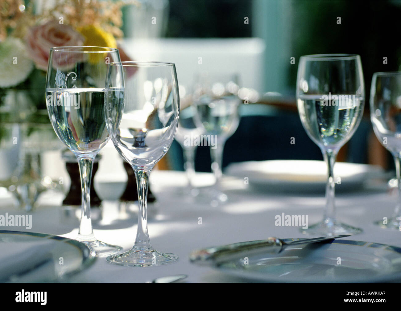 Elegant table settings - Stock Image