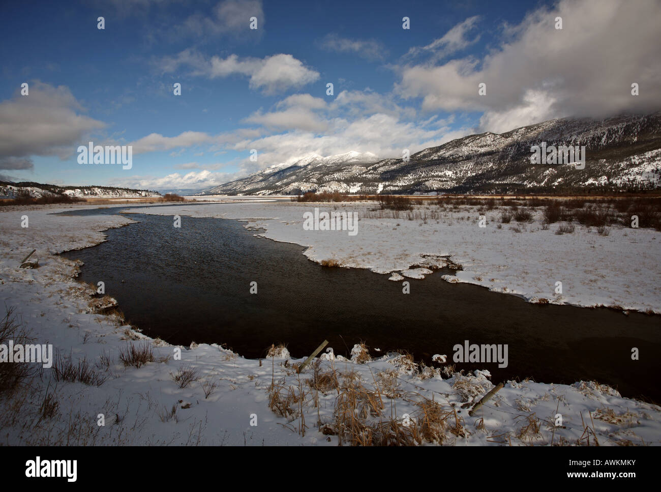 Open water in winter - Stock Image