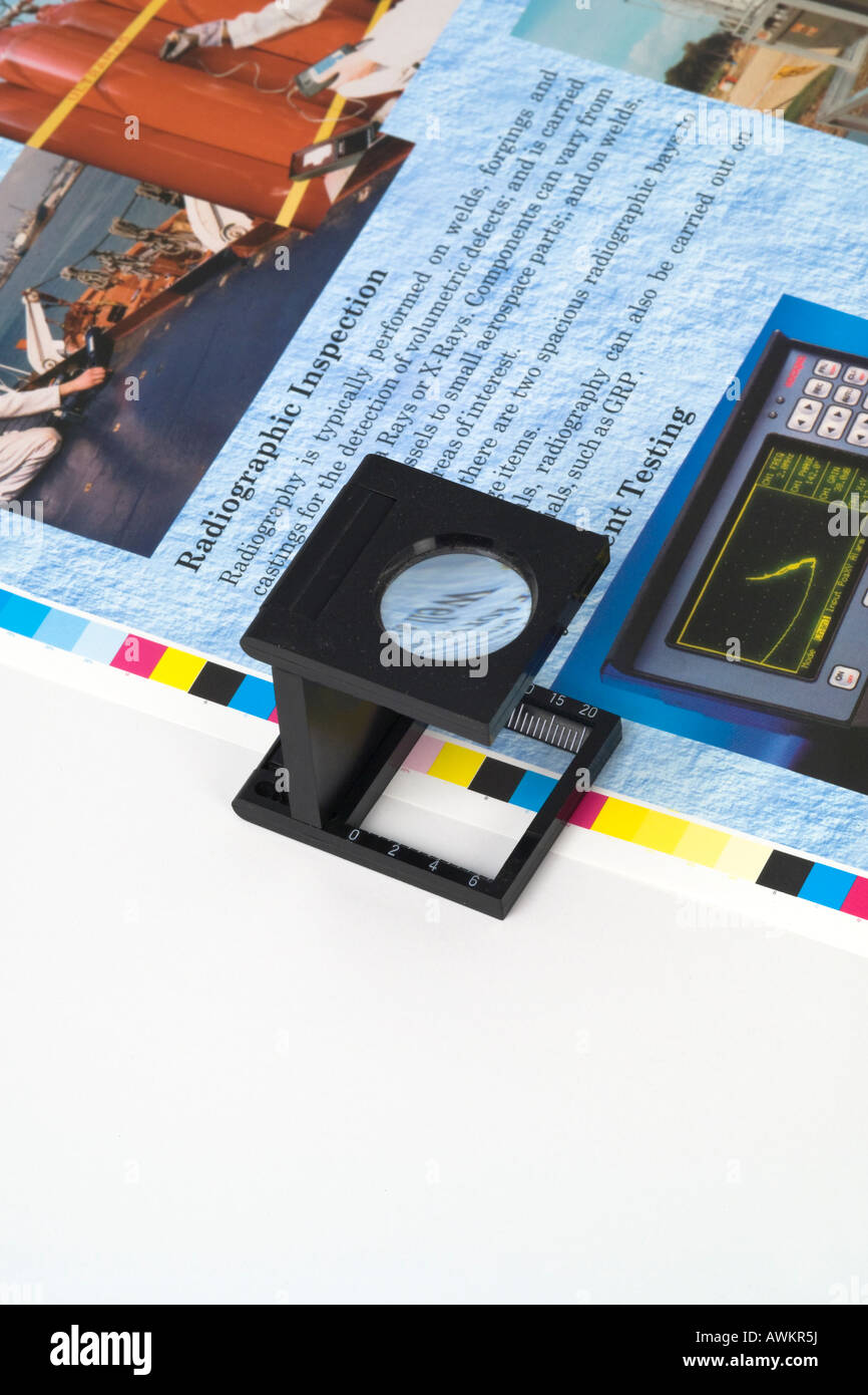 Magnifying Loupe For Checking Colour Print Register