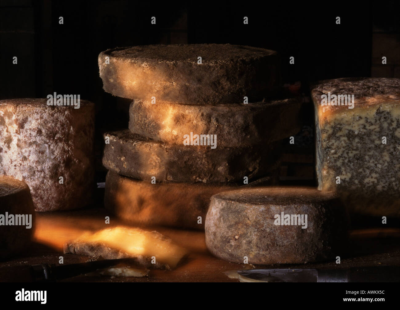 Various French cheeses - Stock Image