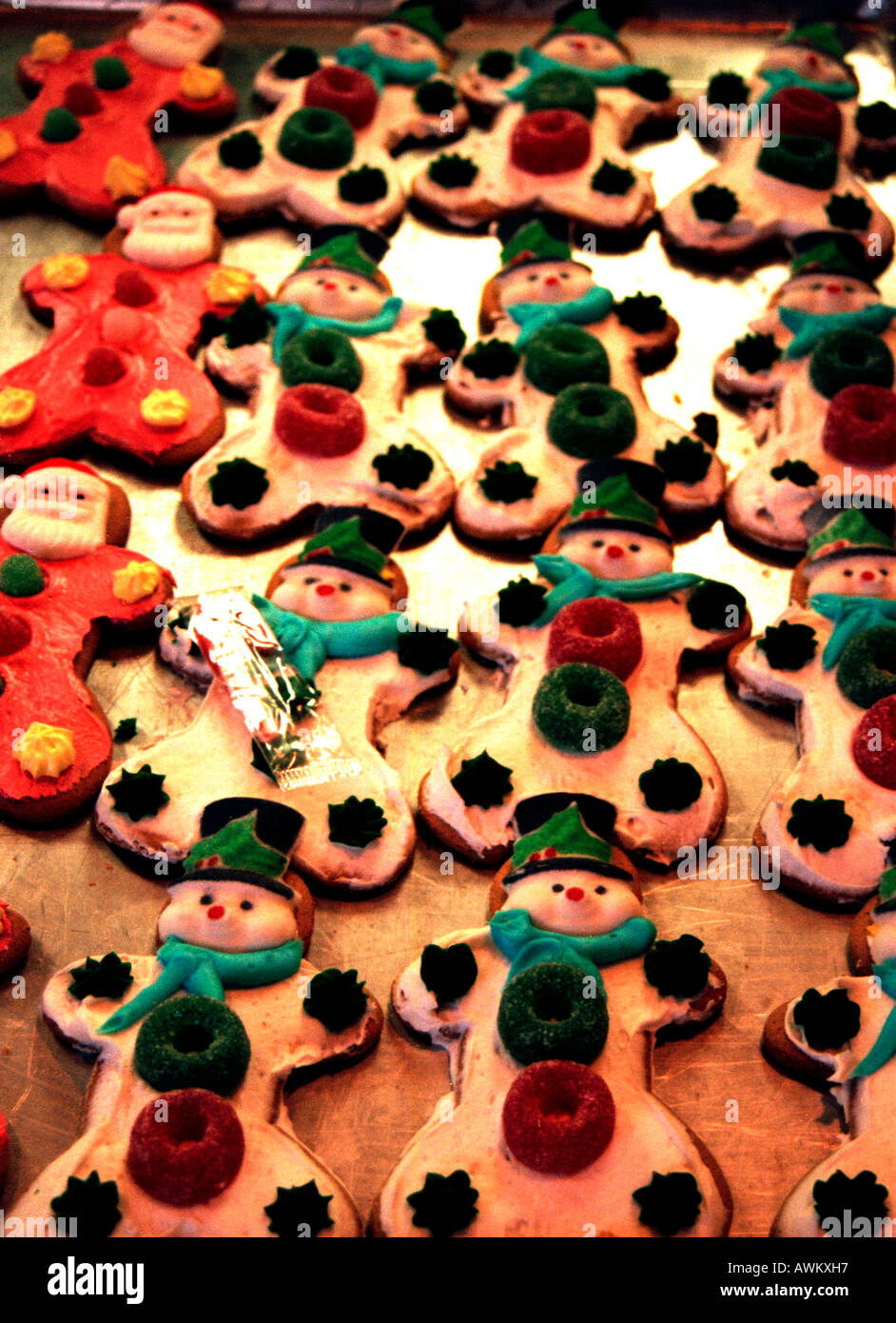 Christmas Cookies In An American Bakers Shop Stock Photo 9490070