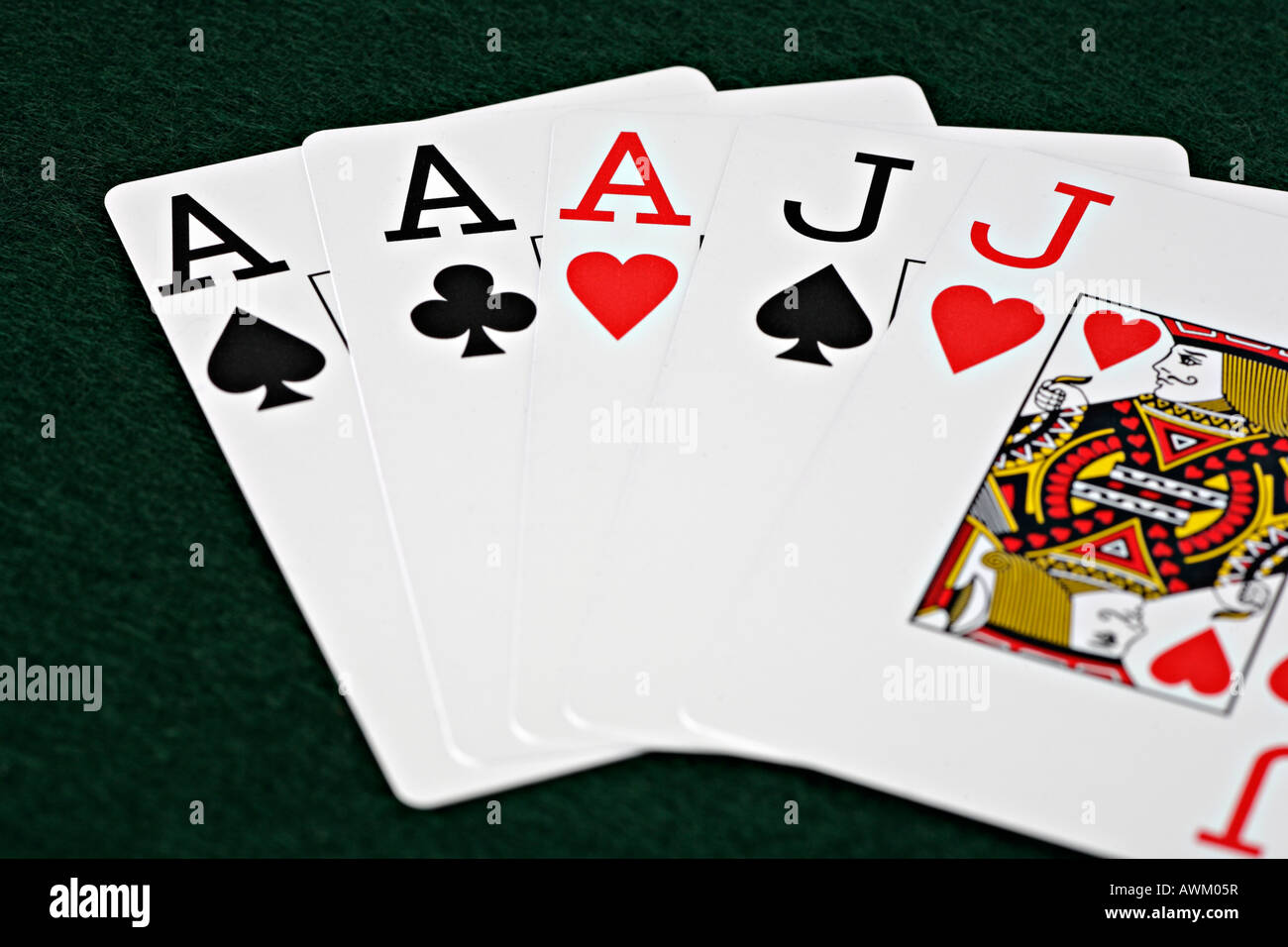 Cards, poker game Stock Photo