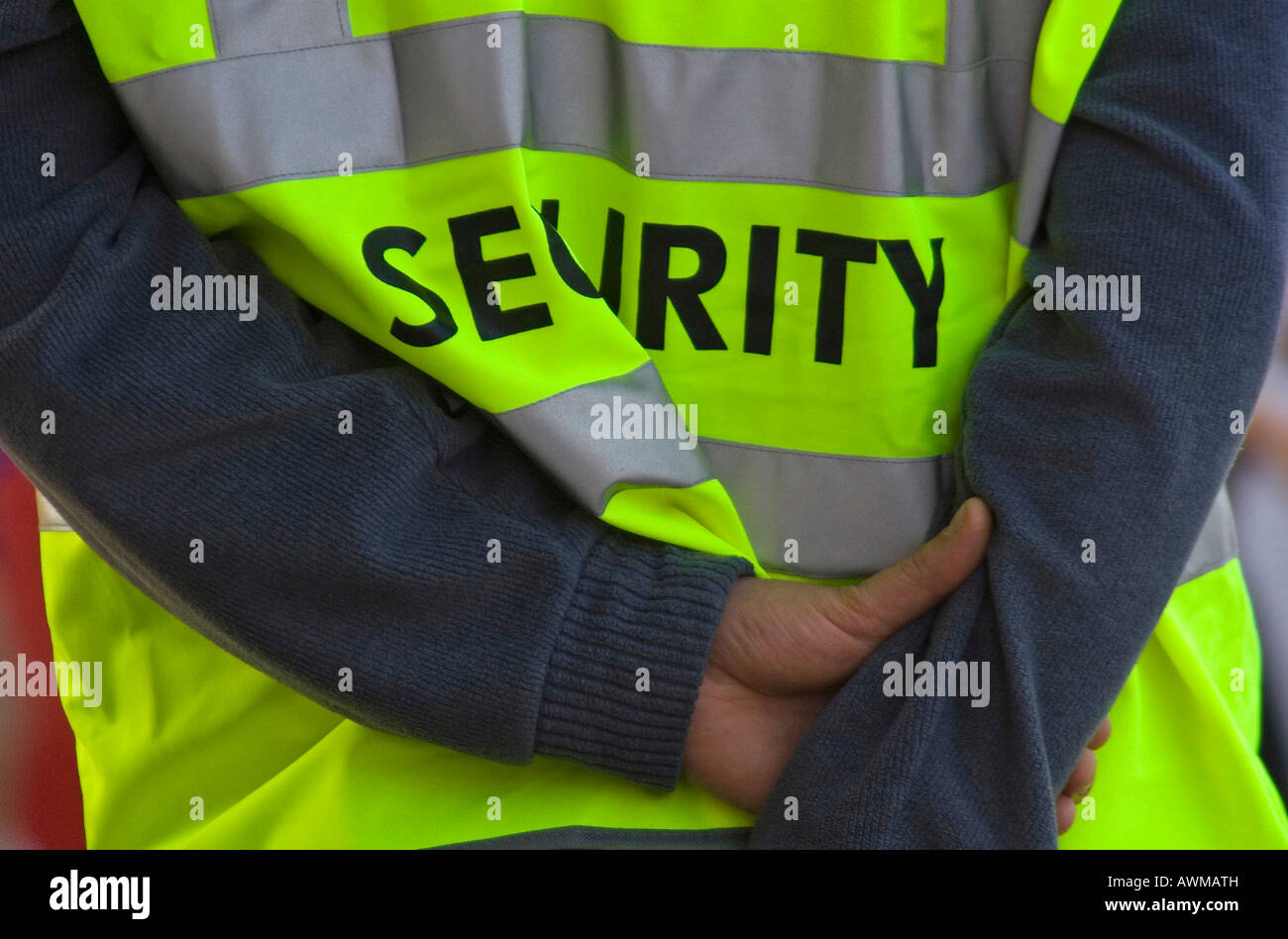 Security personnel at a public event in Berlin, Germany, Europe - Stock Image
