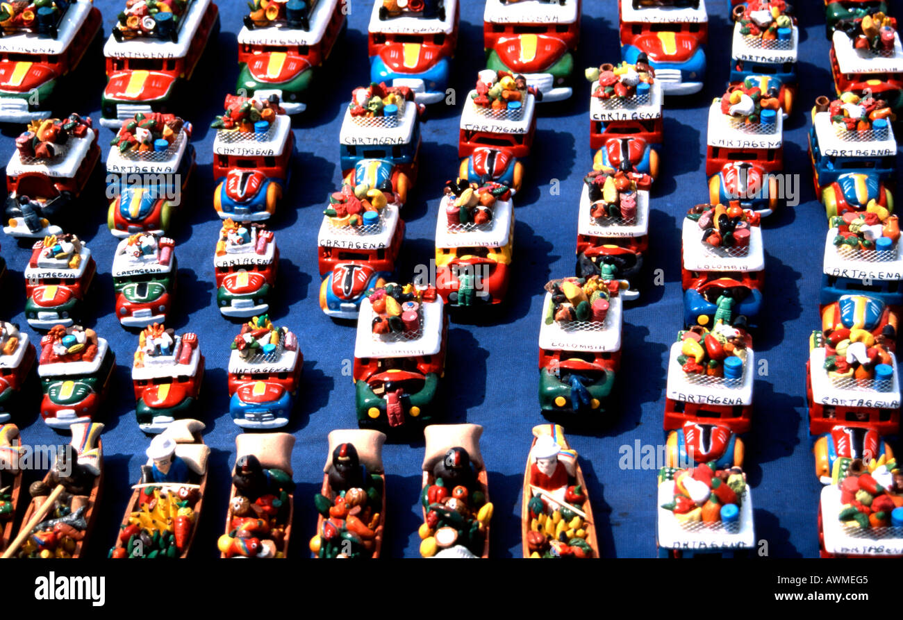 Souvenirs on sale in Colombia - Stock Image