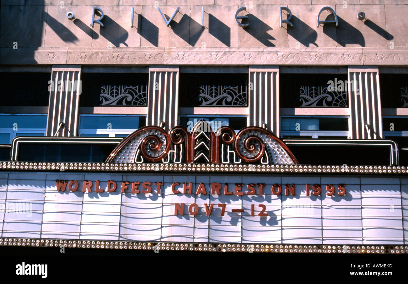 Art deco cinema in USA - Stock Image