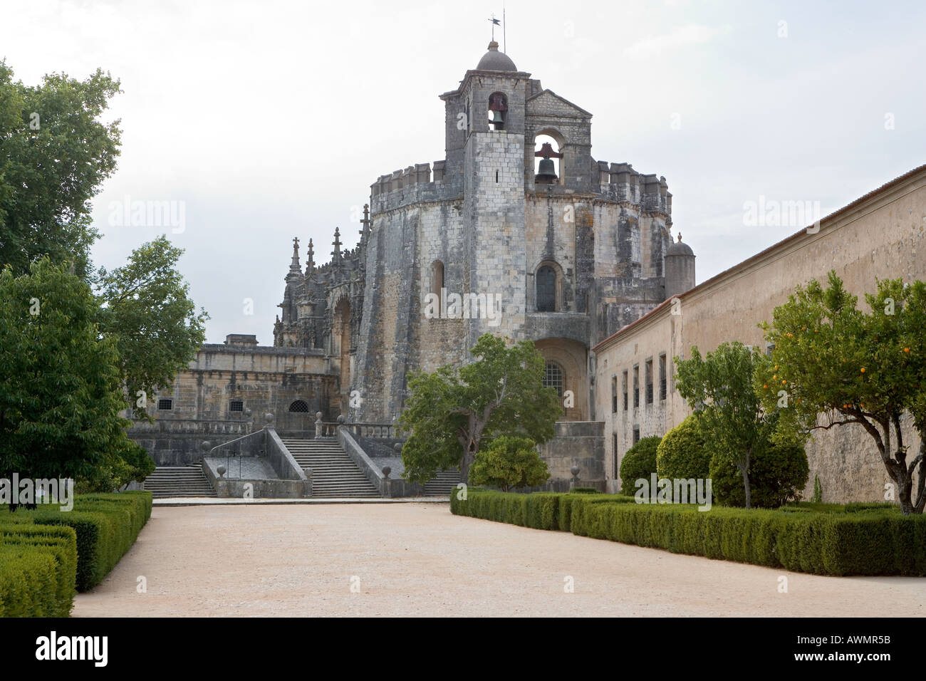 Convento de Christo or Convent of Christ once the headquarters of The Order of the Knights Templar. - Stock Image