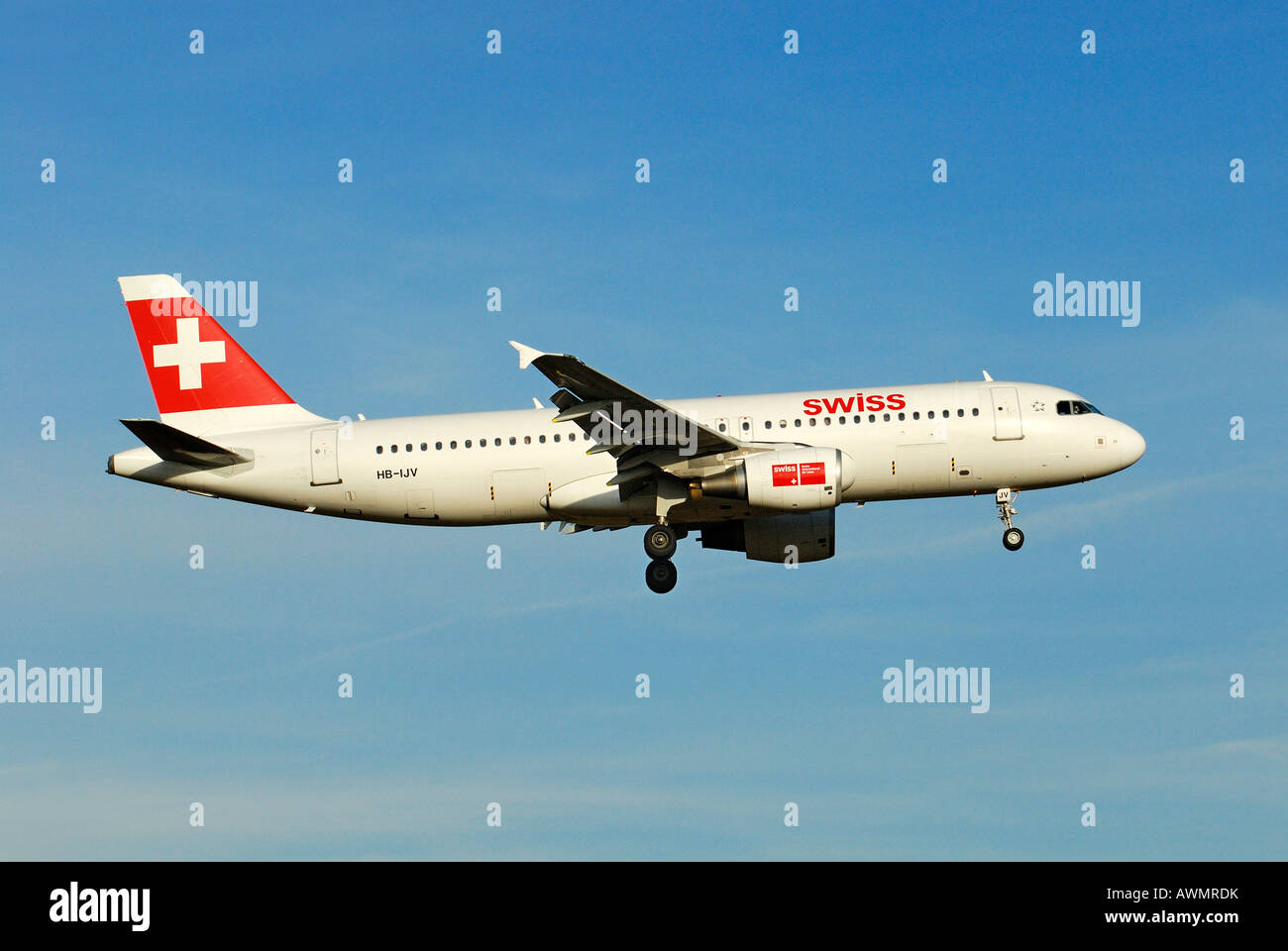 Airbus A320-214 from the Swiss International Air Lines AG - Stock Image