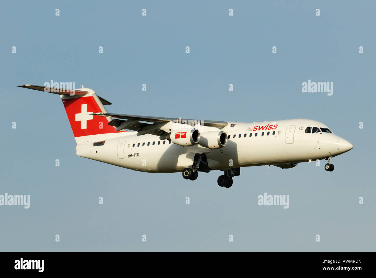 Avro Regional Jet RJ 100 from the Swiss International Air Lines AGStock Photo