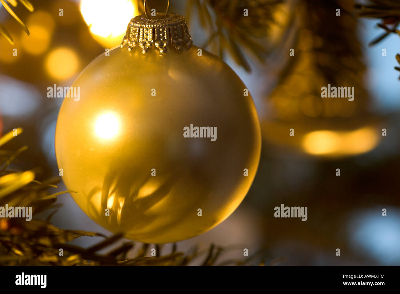 Christmas ornament in tree, Germany, Europe Stock Photo