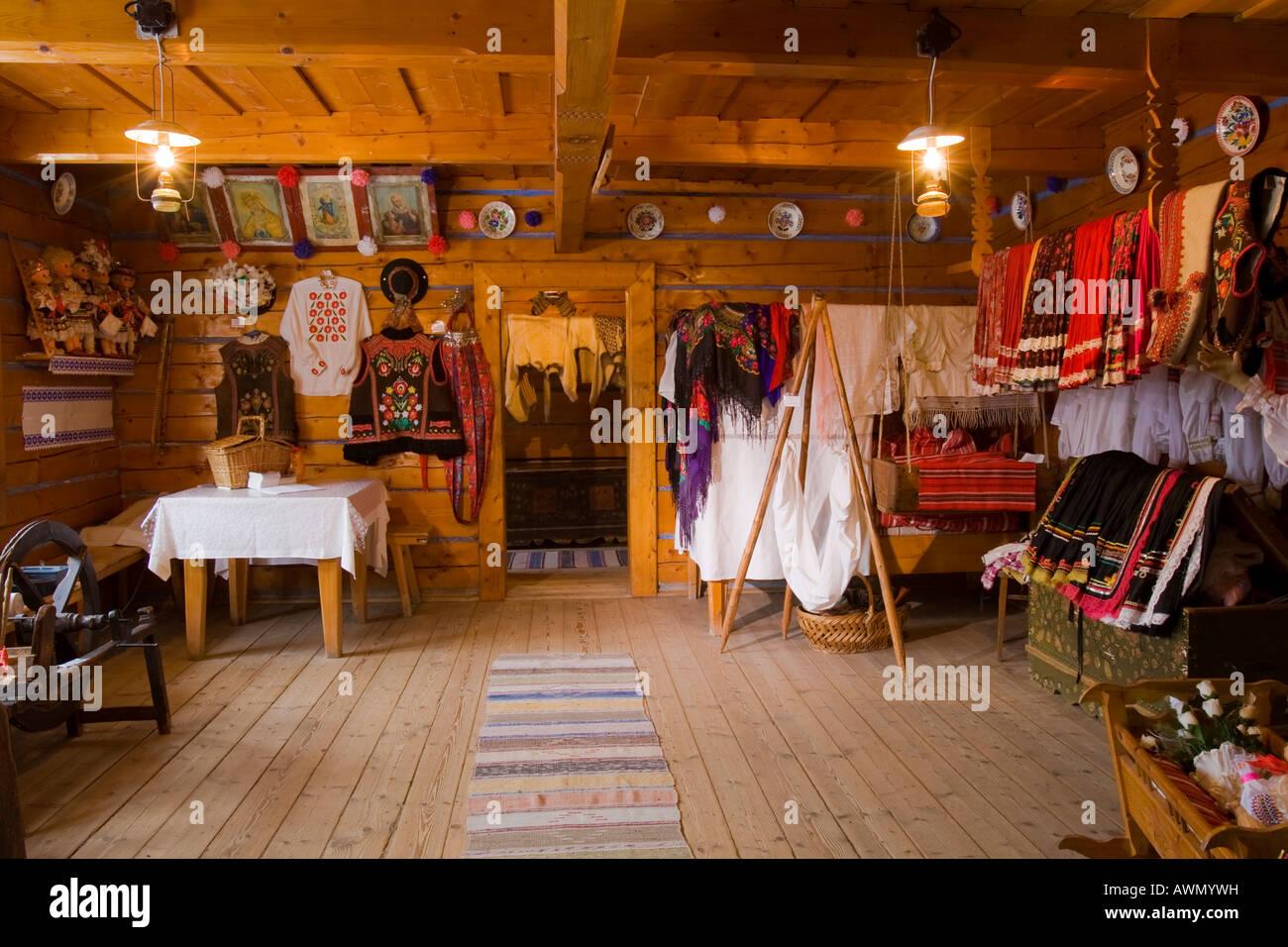 Handicrafts at a museum, Zdiar, High Tatra Mountains, Slovakia, Europe - Stock Image