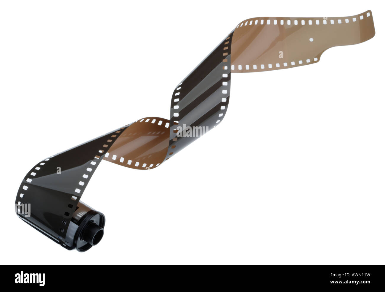 35mm Film and cassette - Stock Image