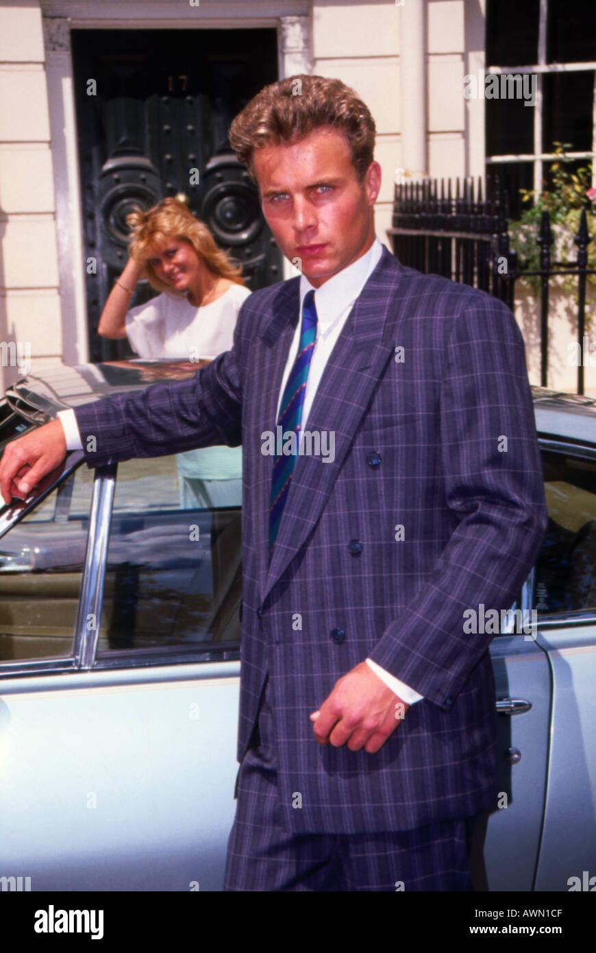 Male fashion model 1970s - Stock Image
