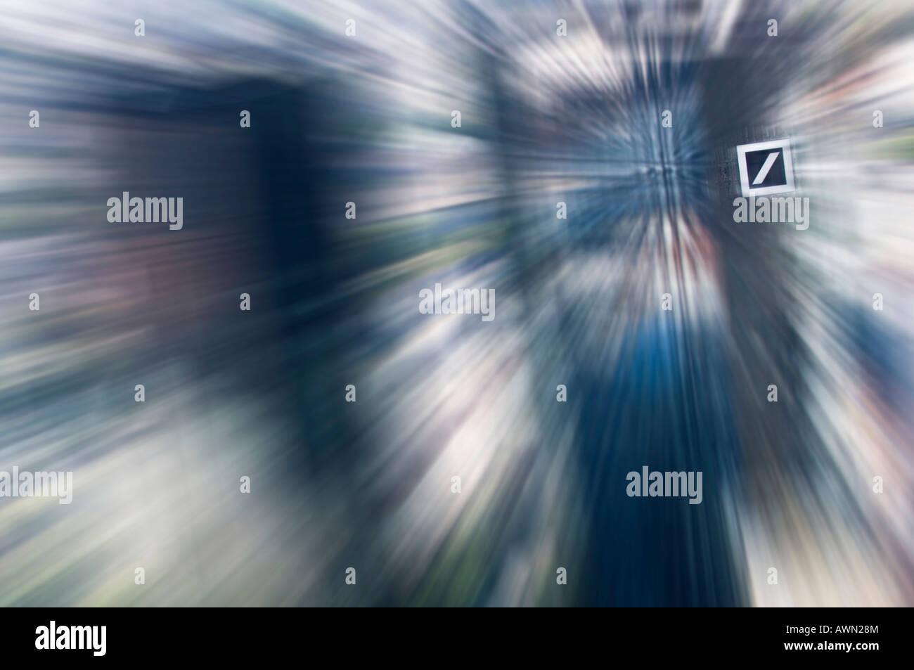 Deutsche Bank, unfocused, Frankfurt, Hesse, Germany, Europe Stock Photo