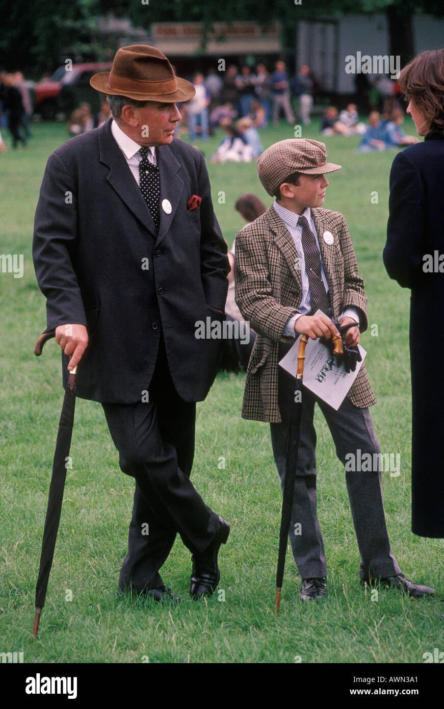 Like father like son 'Countryside Alliance' Demonstration 'Hyde Park' London England HOMER SYKES - Stock Image
