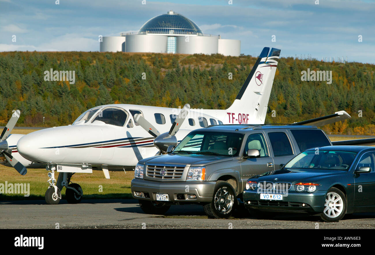 Luxury Travel Reykjavik Iceland - Stock Image