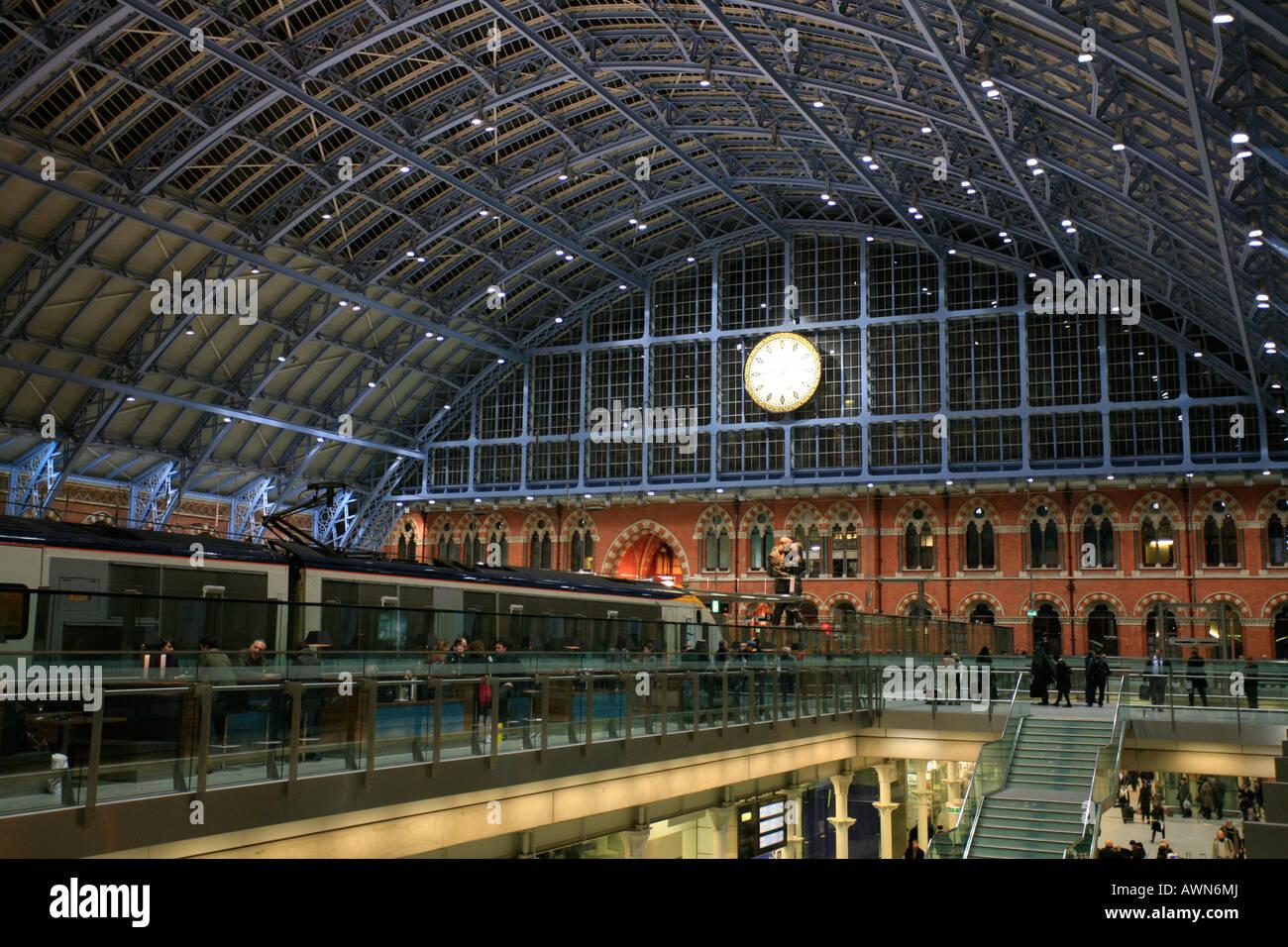 St. Pancras International Train Station, London, UK Stock Photo