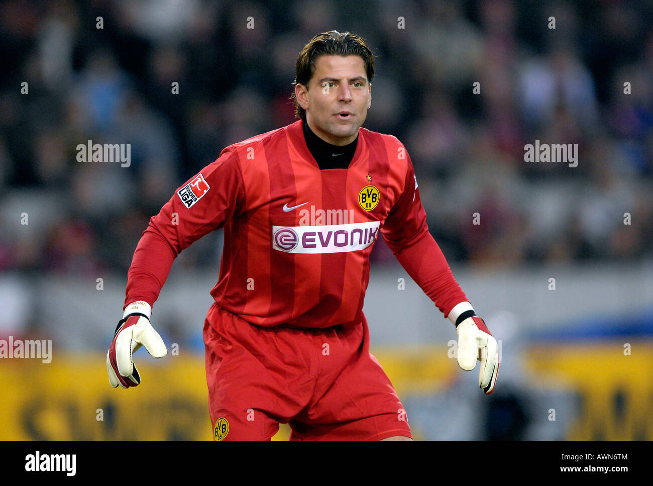 Goalkeeper Roman WEIDENFELLER Borussia Dortmund Stock Photo