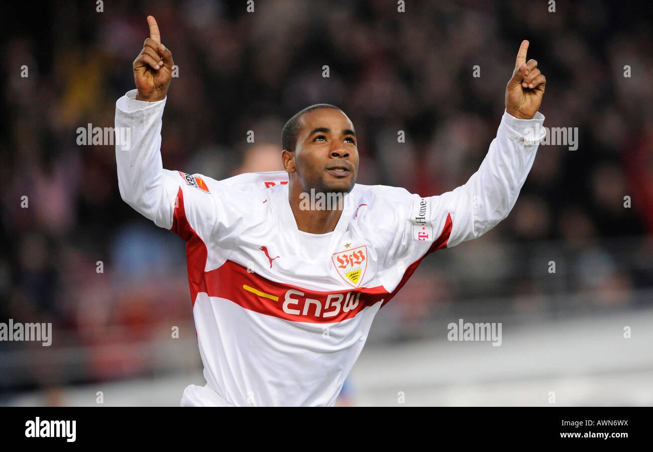 CACAU VfB Stuttgart cheering - Stock Image