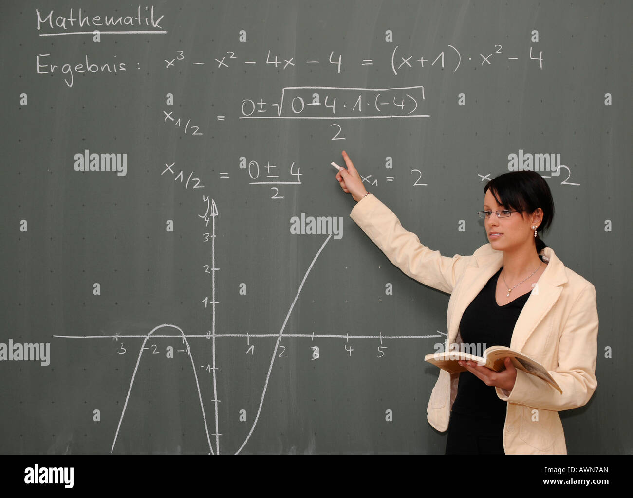 Young female teacher teaching maths Stock Photo: 16620140 - Alamy