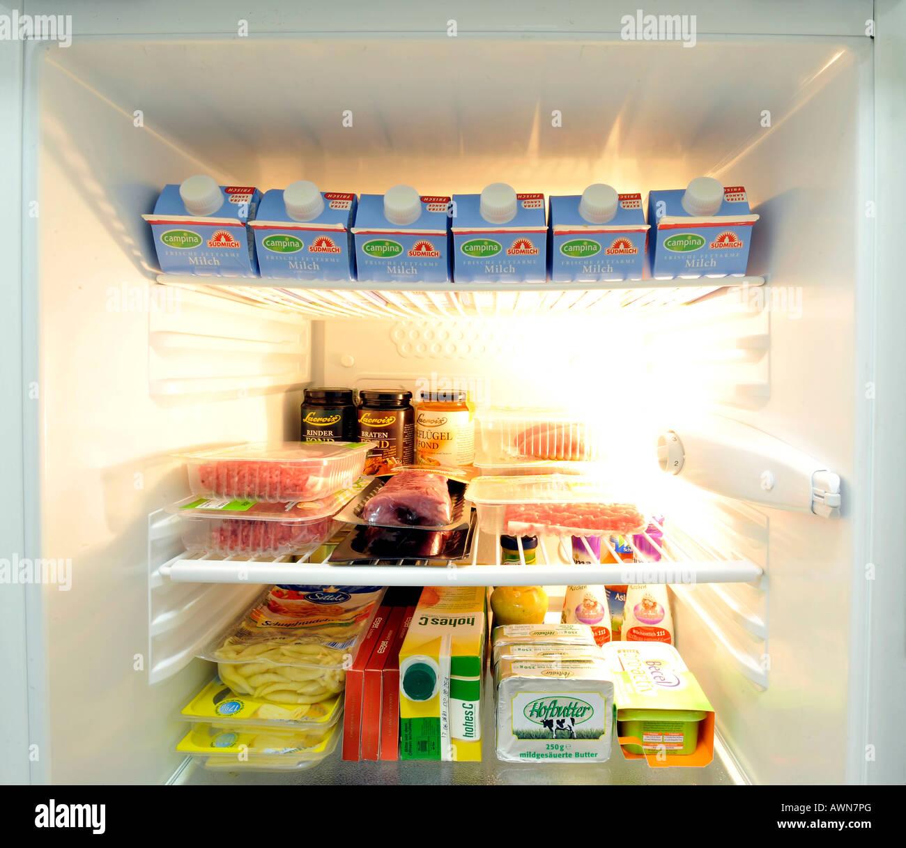 Refrigerator – inside view Stock Photo