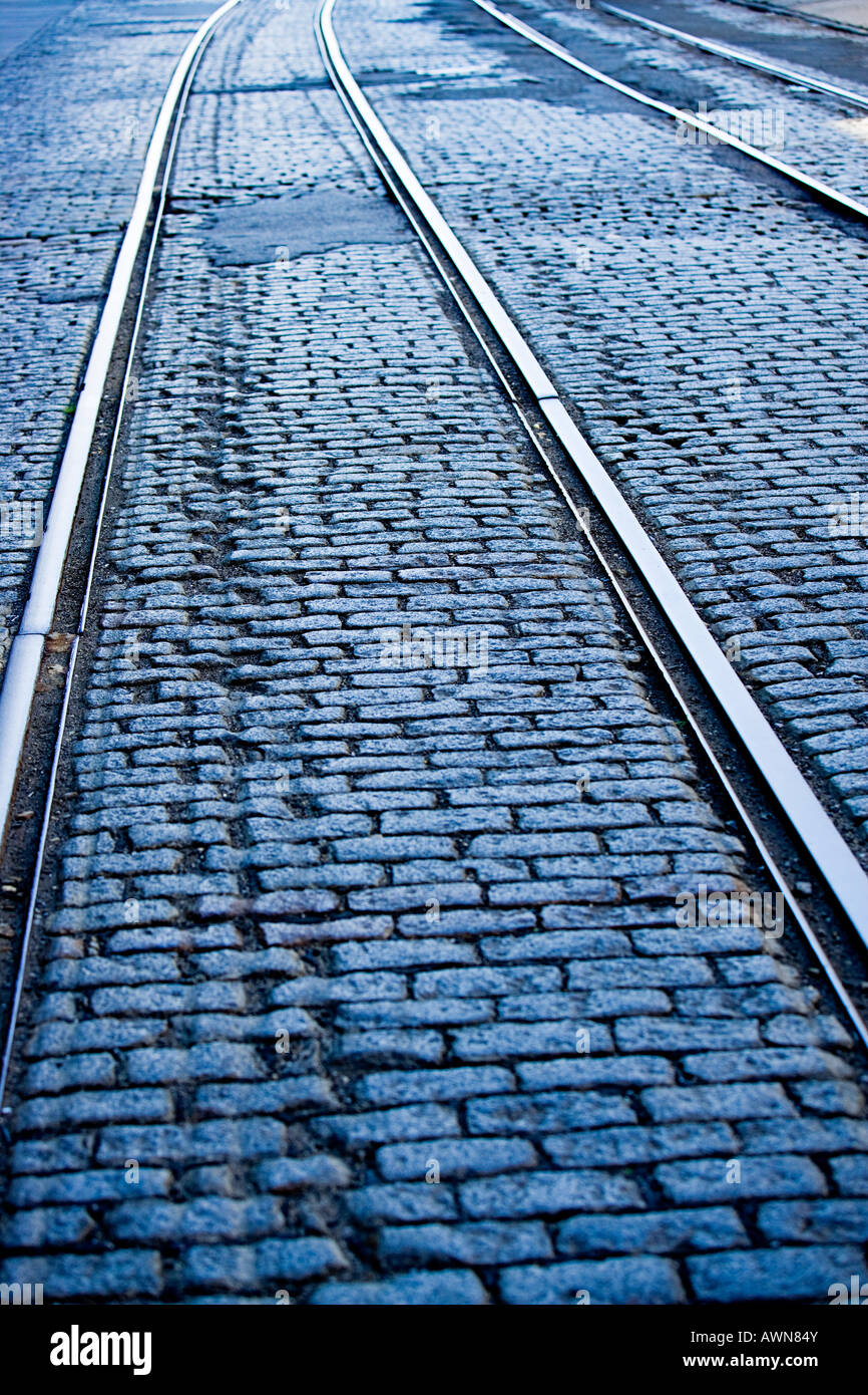 Tram tracks - Stock Image
