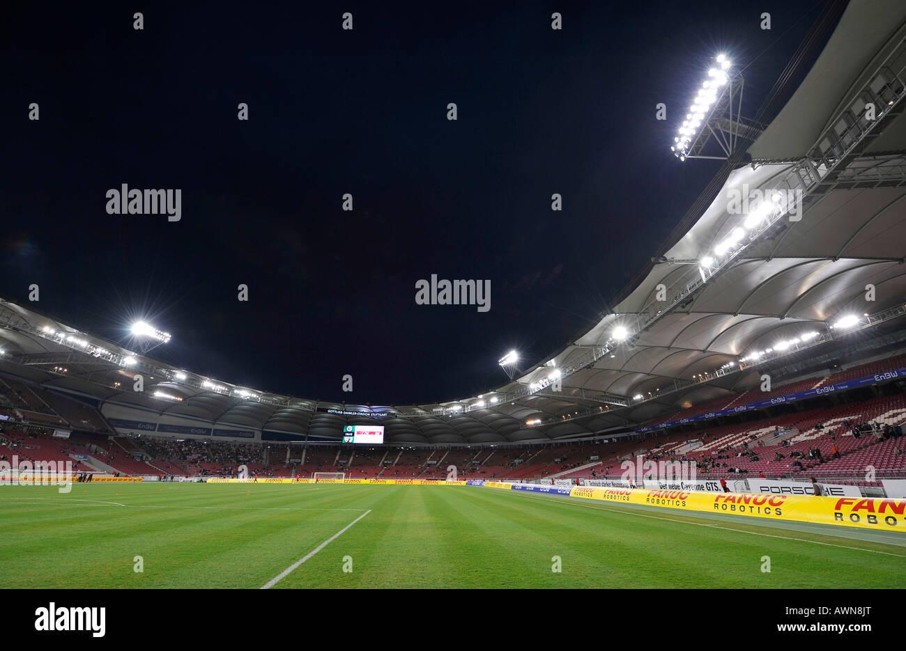 Gottlieb-Daimler-Stadion Stuttgart, Baden-Wuerttemberg, Germany - Stock Image