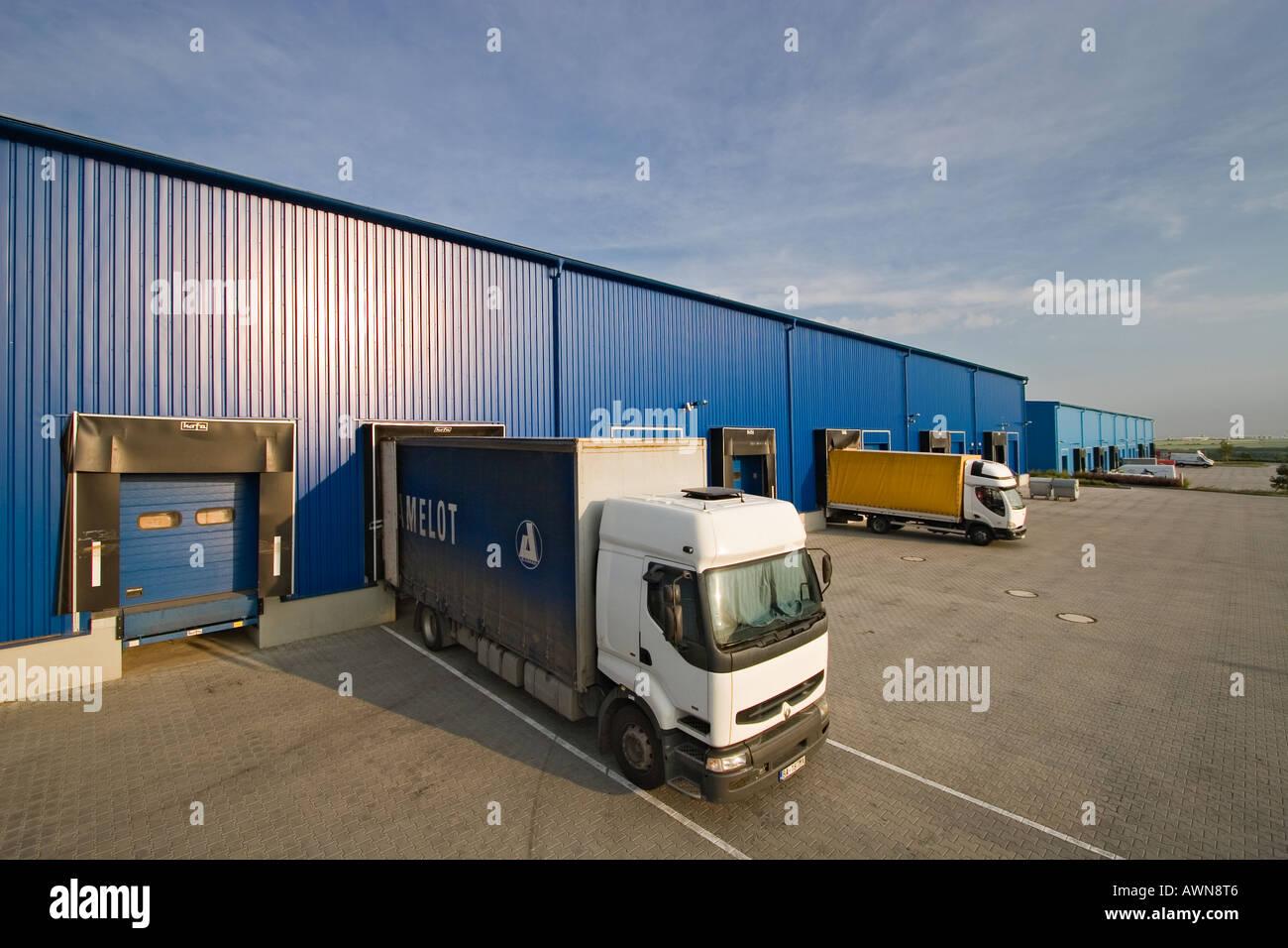 Logistic centre - Stock Image