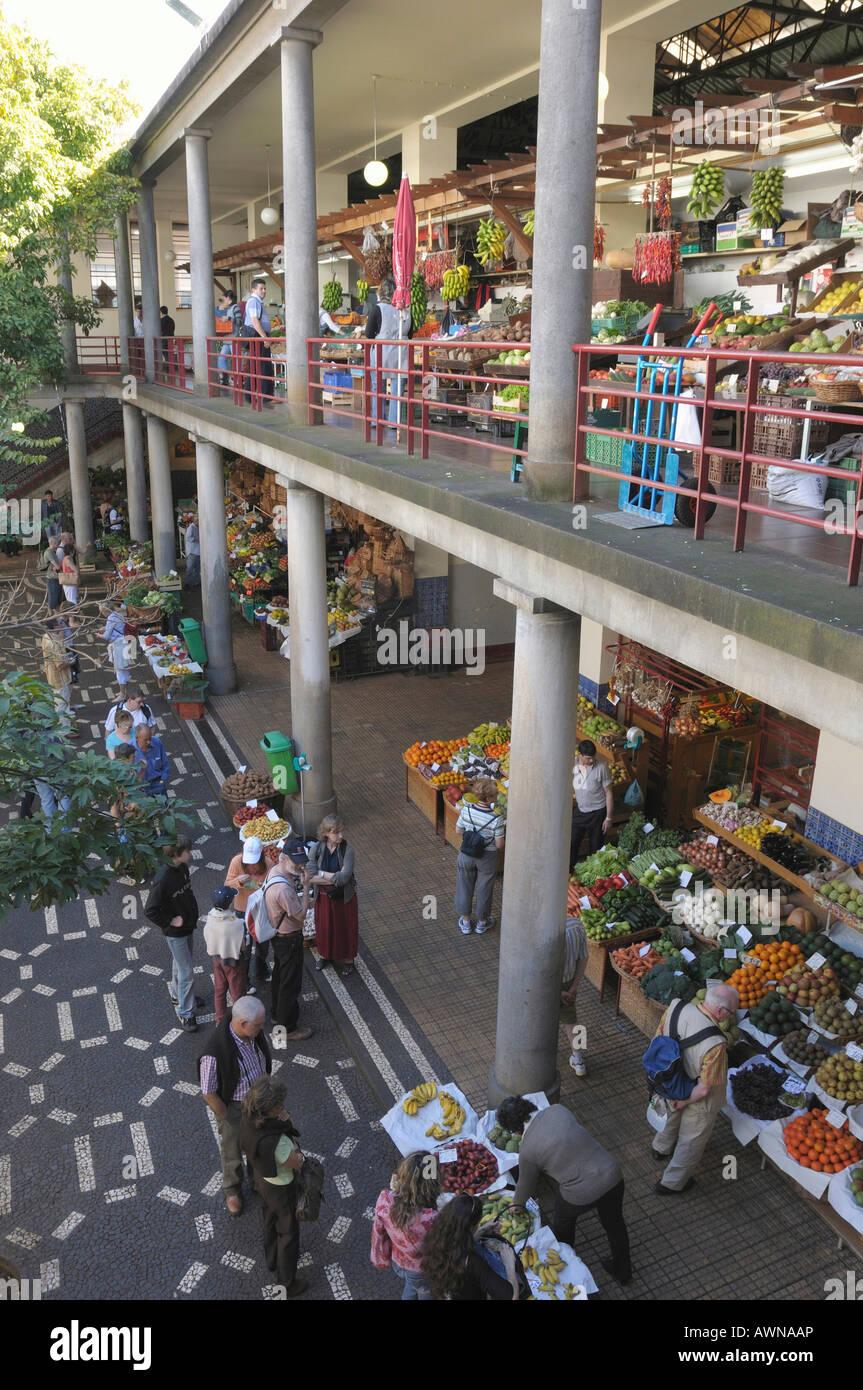 Mercado dos Lavradores, marketplace in Funchal, Madeira, Portugal, Atlantic Ocean Stock Photo