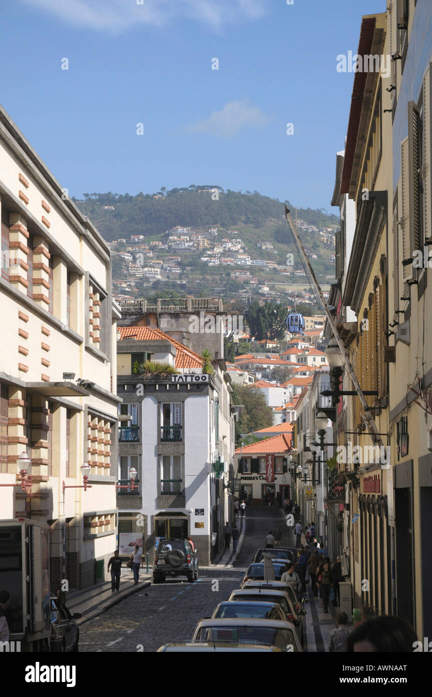 Historic centre, Funchal, Madeira, Portugal, Atlantic Ocean - Stock Image