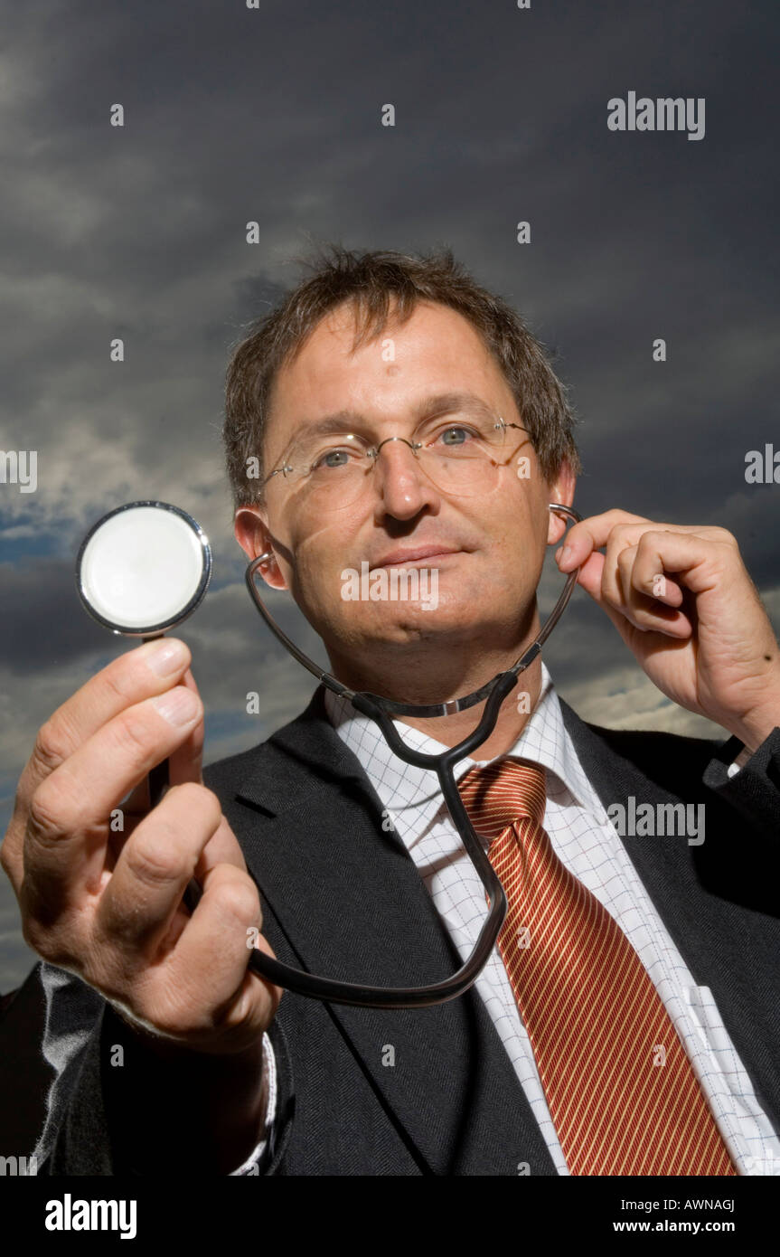 Guenther Jonitz, President of the Berlin Medical Chamber, Germany - Stock Image