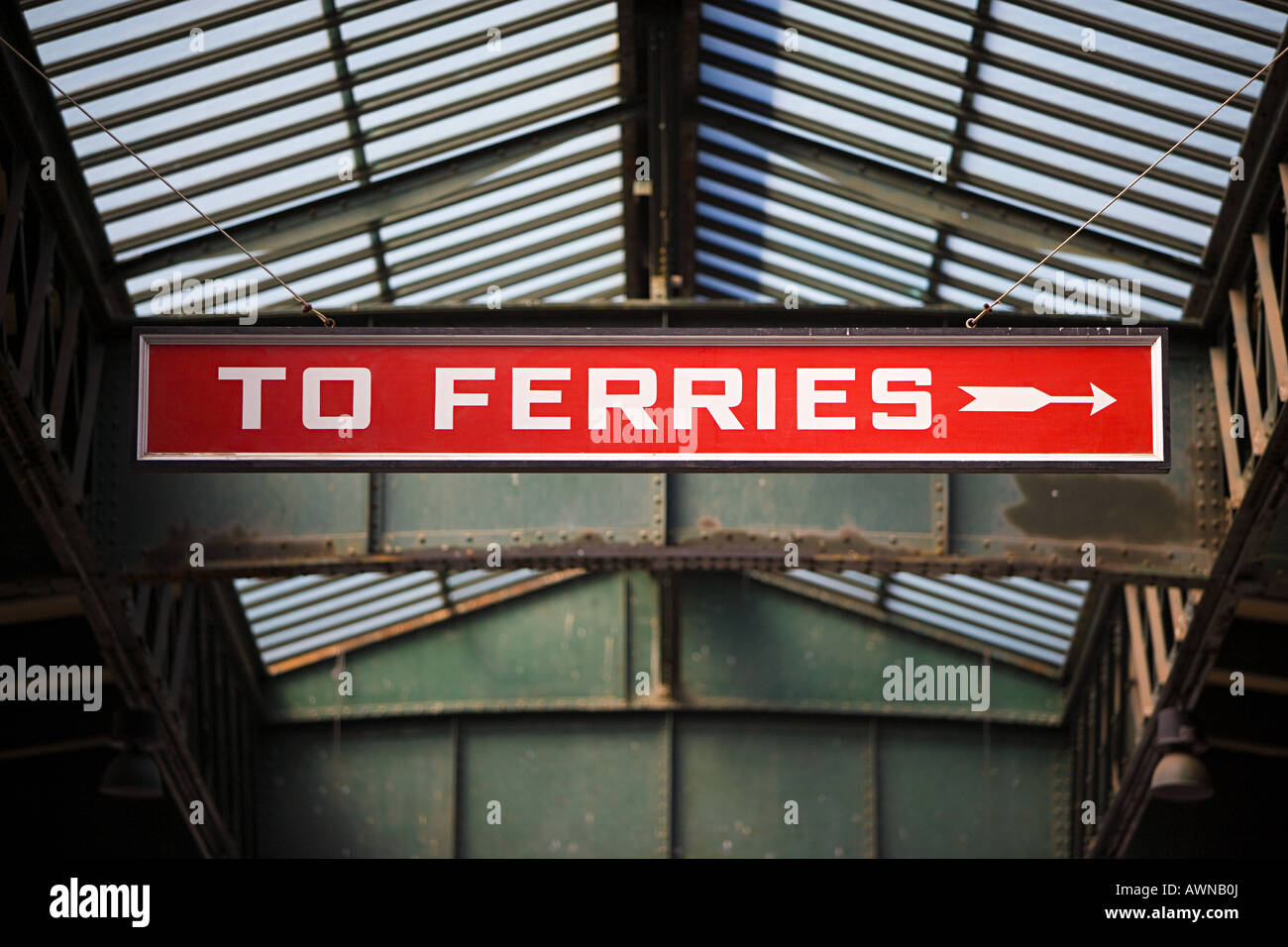 Ferries sign - Stock Image