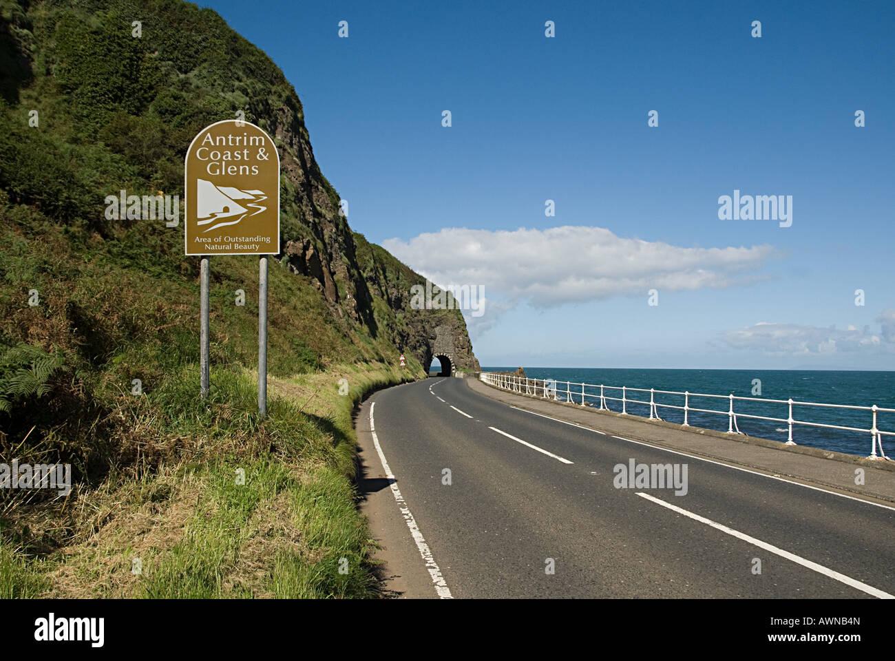 Antrim coast - Stock Image
