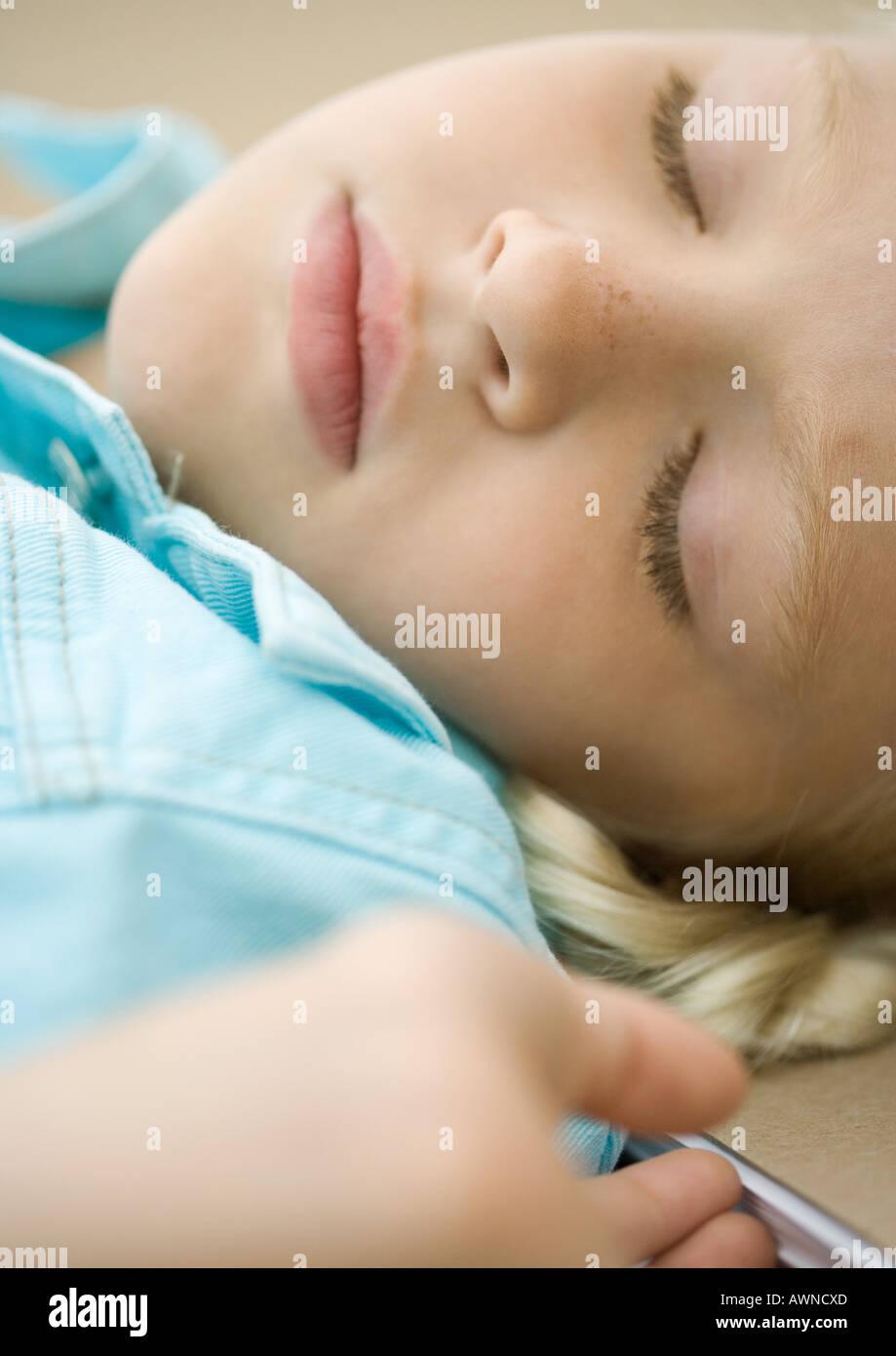 Girl sleeping - Stock Image