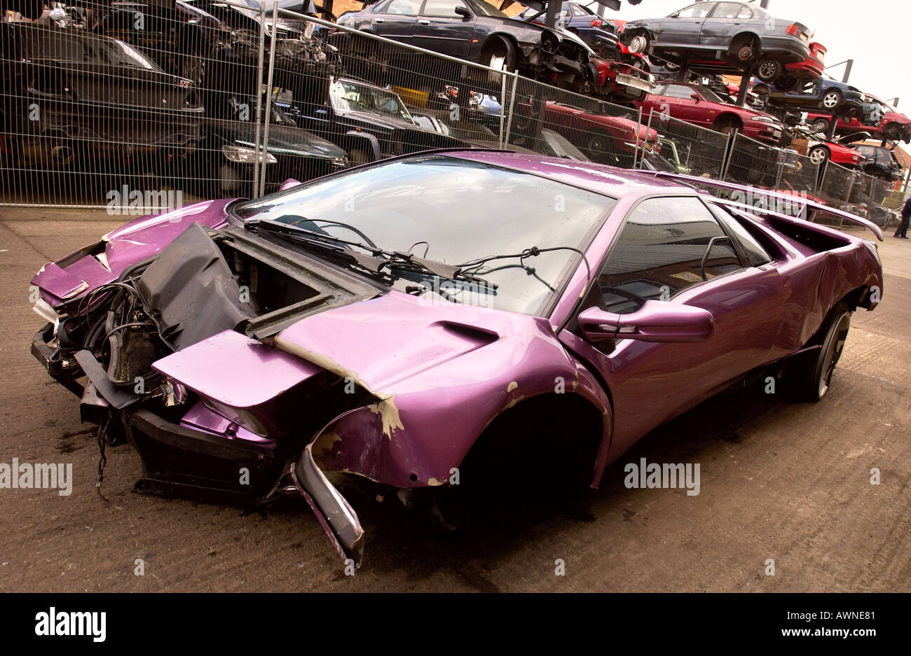 Crashed Lamborghini Stock Photos Crashed Lamborghini Stock Images