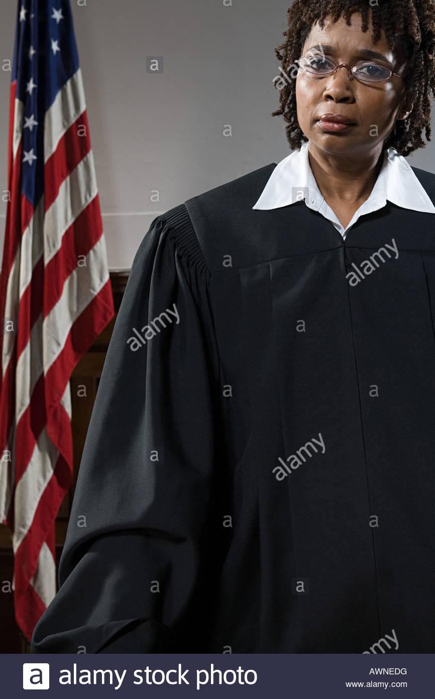 Portrait of a judge - Stock Image