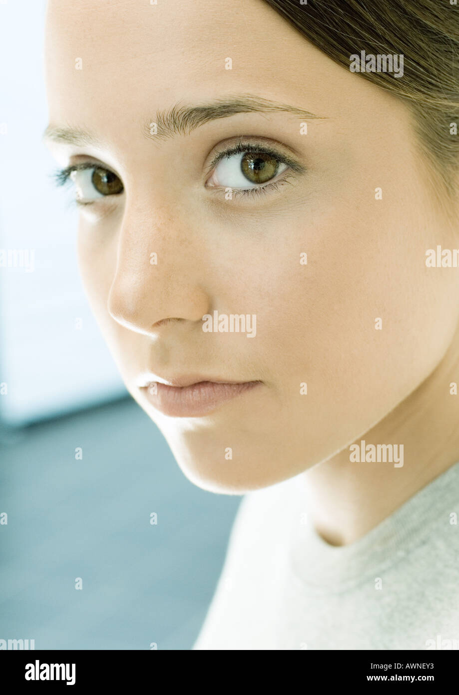 Teen girl, portrait - Stock Image