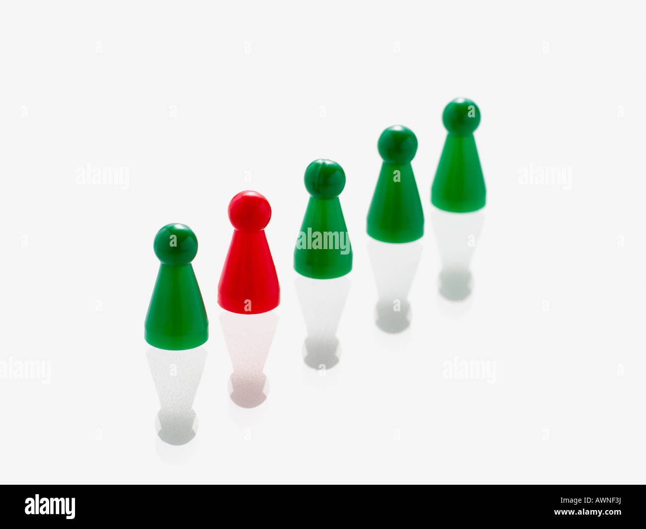 Game counters in a row - Stock Image