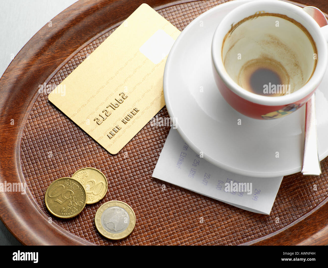 Payment for a bill - Stock Image