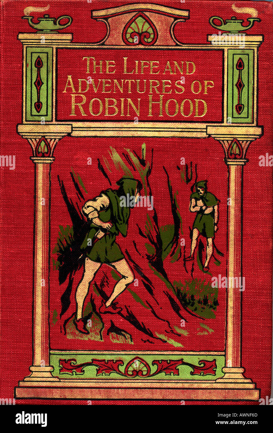 The Life and Adventures of Robin Hood. Front cover from the book of the same title by John B Marsh, published circa 1900. - Stock Image