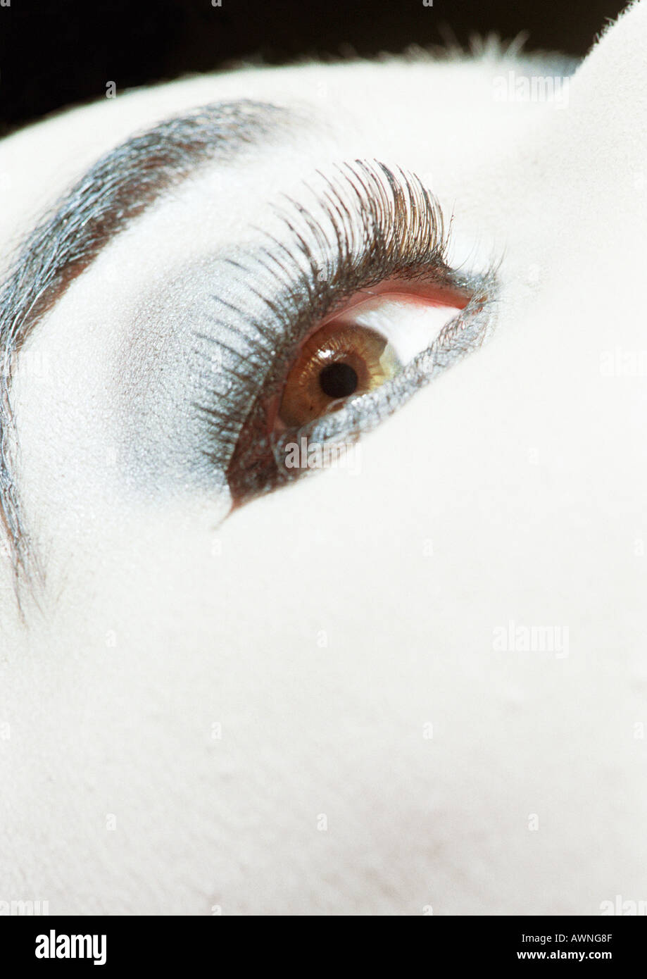 Woman's eye, close up. - Stock Image