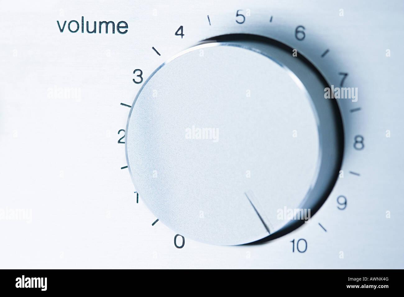 Volume knob - Stock Image