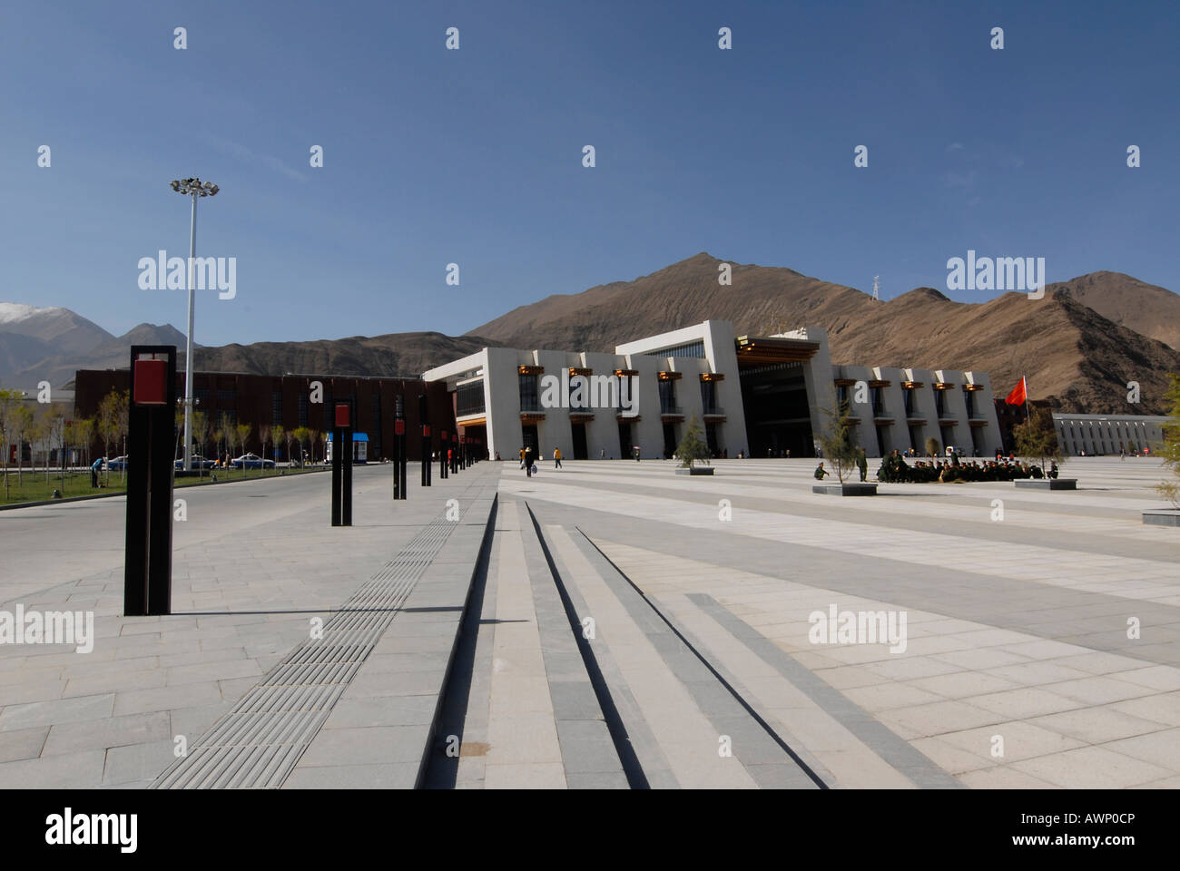 New Qinghai–Tibet railway station in the Tibetan capital of Lhasa, Tibet, China, Asia - Stock Image
