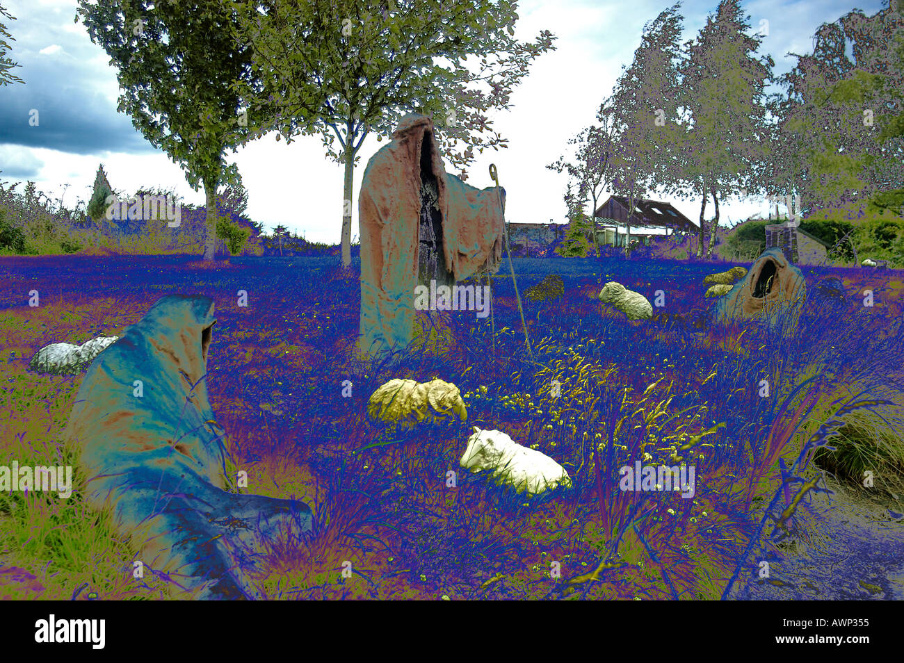 Surreal Shepherds - Stock Image